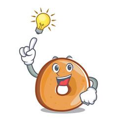 Have an idea bagels mascot cartoon style vector