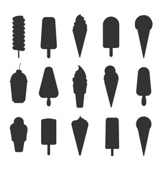 ice cream silhouettes vector image