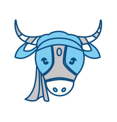 indian sacrew cow cartoon vector image