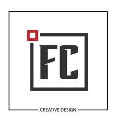 Initial letter fc logo template design vector