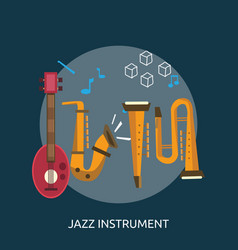 jazz instrument conceptual design vector image