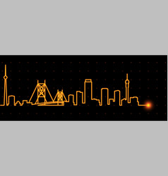 Johannesburg light streak skyline vector