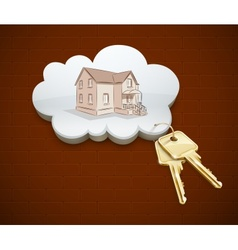 Keys of dream house in the vector