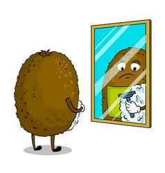 kiwi fruit shaves pop art vector image