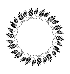 Laurel wreath circle tattoo icon ornament of dove vector