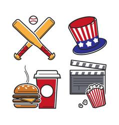 leisure activities set vector image