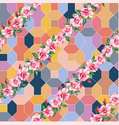 lines roses positive color geometrical vector image