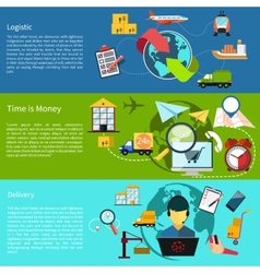 Logistic time is money and delivery vector image