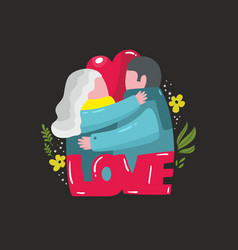 Lovely with couple man and woman vector