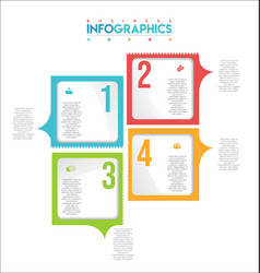 modern infographic colorful design template 7 vector image