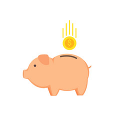 money-box in shape pig vector image