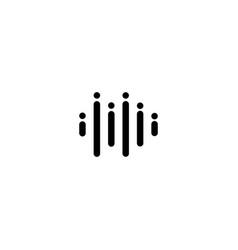Music wave logo design template vector
