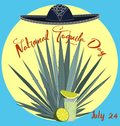 national tequila day card poster template vector image
