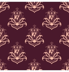 Paisley floral seamless pattern vector