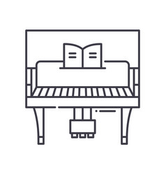 Piano concept icon linear isolated vector