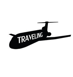 plane traveling vector image
