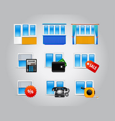 plastic-windows-icons vector image