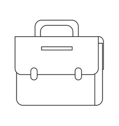 Portfolio briefcase business accessory vector