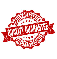 Quality guarantee stamp sign seal vector
