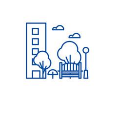 recreation park line icon concept recreation park vector image