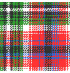 red green color check seamless fabric texture vector image