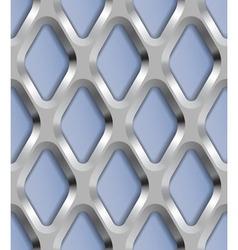 Rhombus Metal Lattice Seamless Pattern vector image