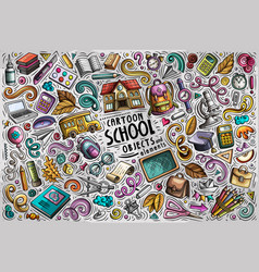 Set of back to school items objects and vector