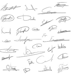 signatures Stock vector image