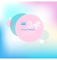 Soft blur background vector image
