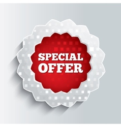 Special offer glass star button vector image