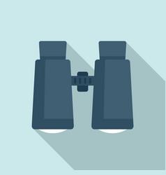 Survival binoculars icon flat style vector