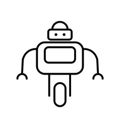 Symbol of Personal Droid Thin line Icon of Future vector