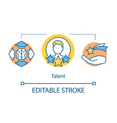 Talent concept icon vector
