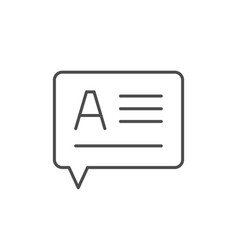 text message line outline icon vector image