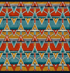 Tribal seamless pattern colorful abstract vector