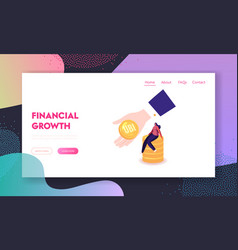 universal basic income landing page template tiny vector image