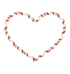 Valentine s day heart-shaped ribbon eps 10 vector