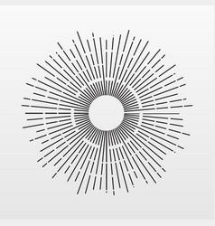 vintage sun rays isolated on background modern si vector image