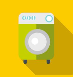 washing machine icon flat style vector image