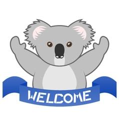 Welcome koala vector image