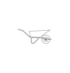 Wheelbarrow flat icon vector