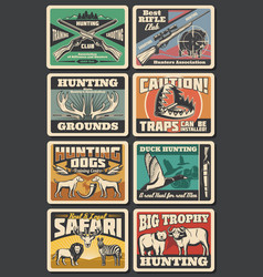wild animals and wildfowl trophy hunting vector image