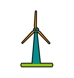 Wind turbine clean energy related icon image vector