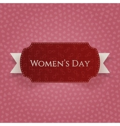 Womens Day red paper Card Template vector