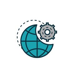 World gear work tools engineering icon vector