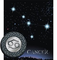 Cancer zodiac sign Crab zodiac vector image vector image
