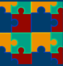 pazzle pattern vector image