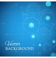 Weels over the blueprint vector image vector image