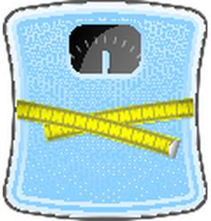 Bathroom blue scale vector image vector image