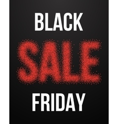 Black Friday Sale Poster with Blackwork vector image vector image